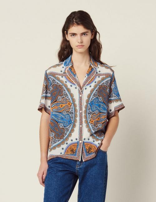 Sandro - Chemise pyjama imprimée