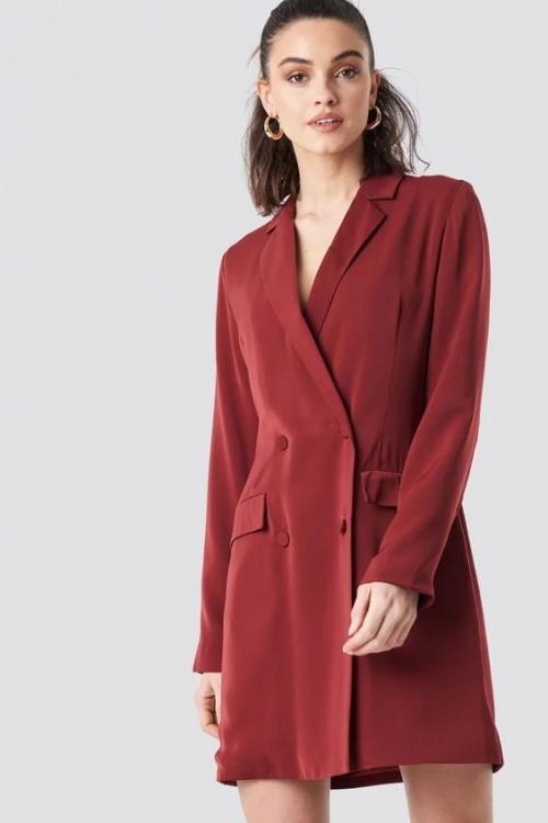 NA-KD - Robe blazer rouge