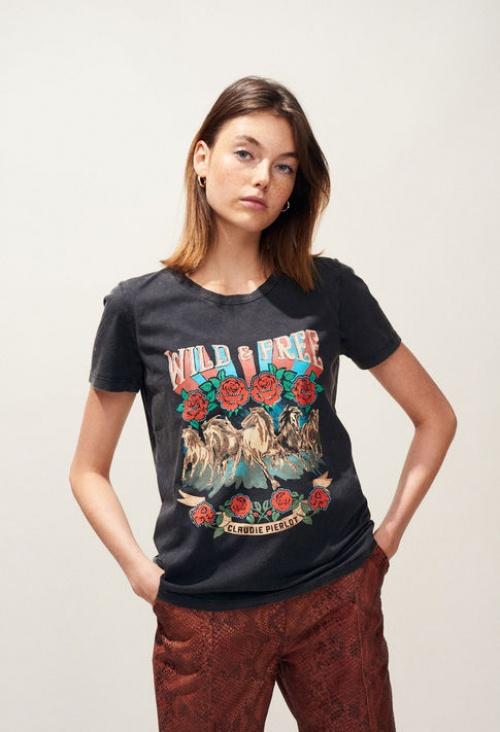 Claudie Pierlot - T-shirt sérigraphié wild