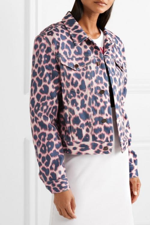 Calvin Klein - Veste en jean à imprimé léopard