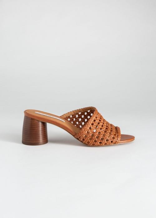 & Other Stories - Sandales en cuir tressé