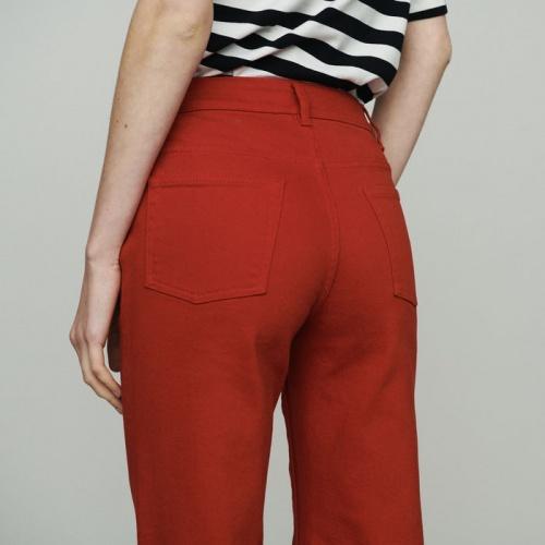 Maje - Jean rouge taille haute