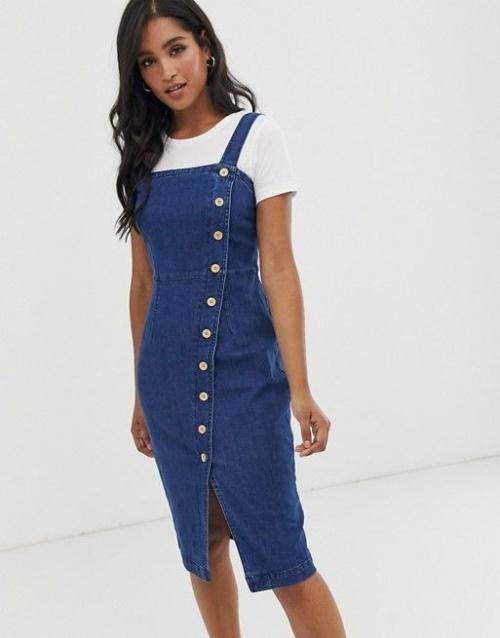 Vero Moda - Robe en jean boutonnée