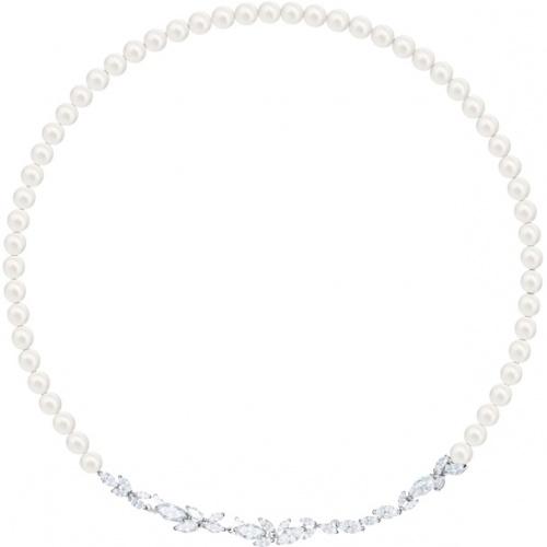 Swarovski - Collier perles blanche