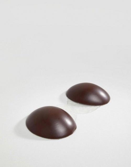Magic - Soutien-gorge adhésif sans dos ni bretelles modelant en silicone - Couleur foncée