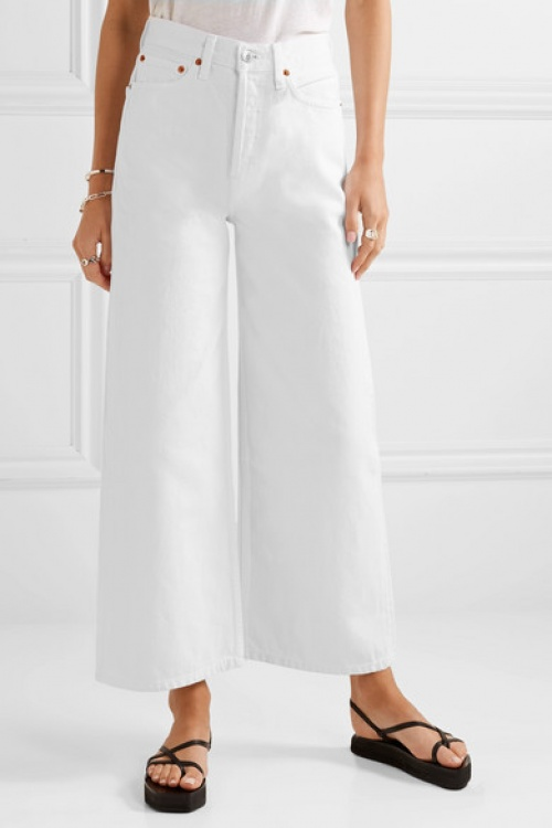 RE/DONE - Jean large raccourci taille haute