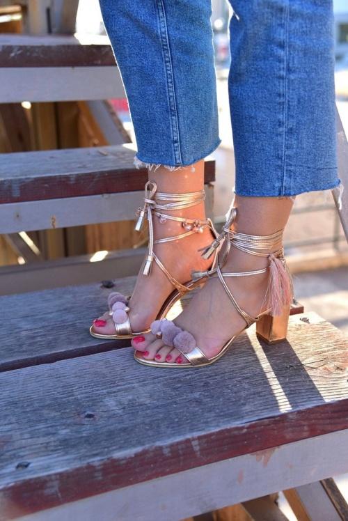 Pinky Promise - Sandales en cuir