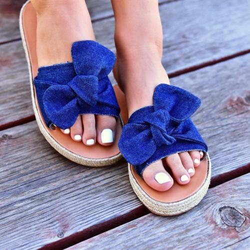 Pinky Promise - Sandales en jean et cuir