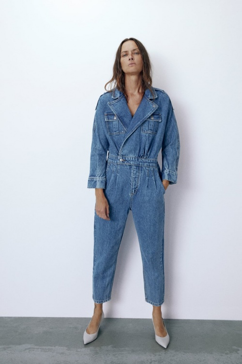 Zara Join Life - Combinaison en jean