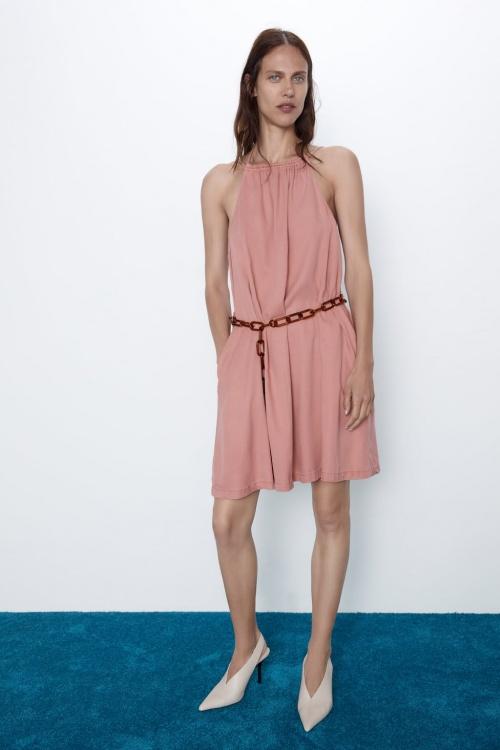 Zara Join Life - Robe à ceinture