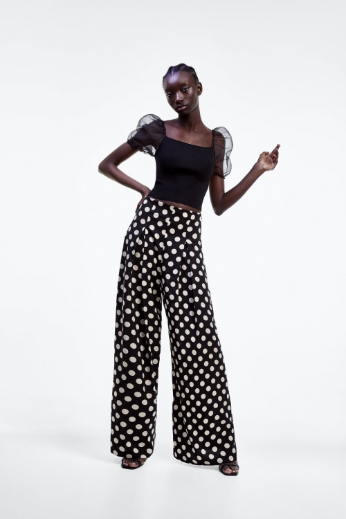 Zara - Pantalon à pois