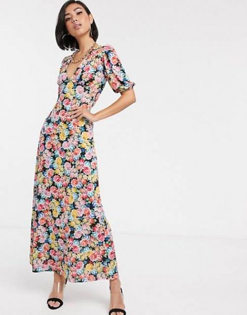 ASOS DESIGN - Robe longue imprimée