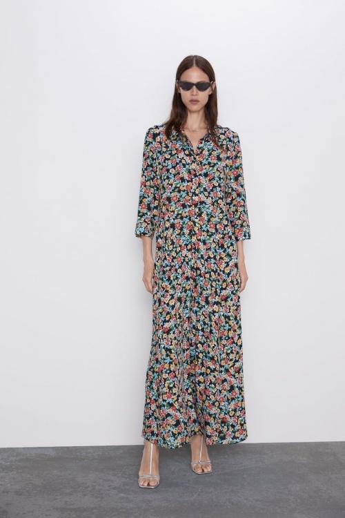 Zara - Robe longue imprimée
