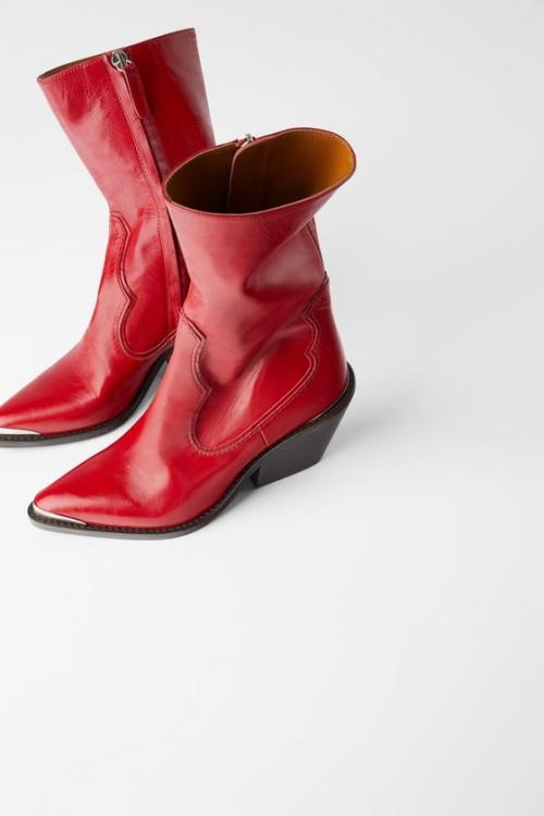 Zara - Bottines rouges