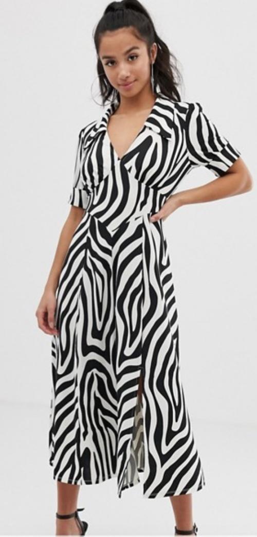 Asos Design - Robe mi-longue