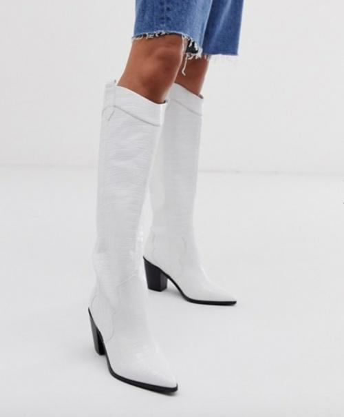 Asos Design - Bottes blanches