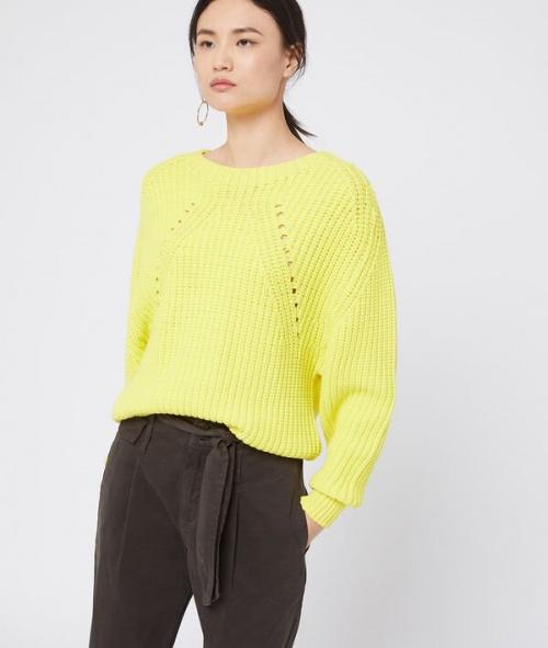 Etam - Pull jaune citron