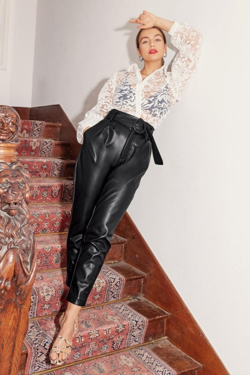 Nasty Gal - Pantalon fuselé simili cuir