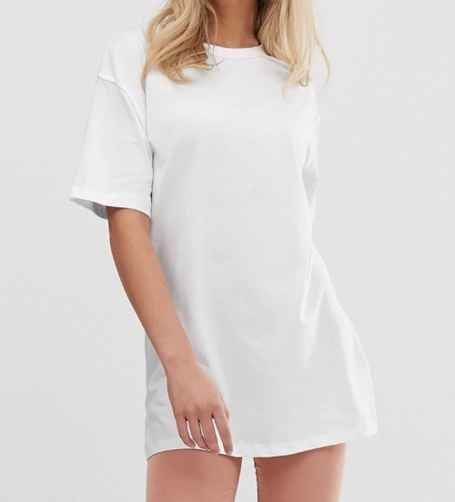 New Look - T-shirt blanc oversize