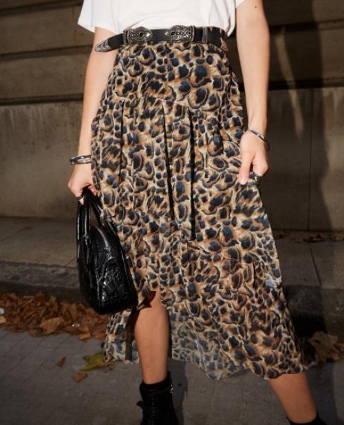 The Kooples - jupe longue léopard