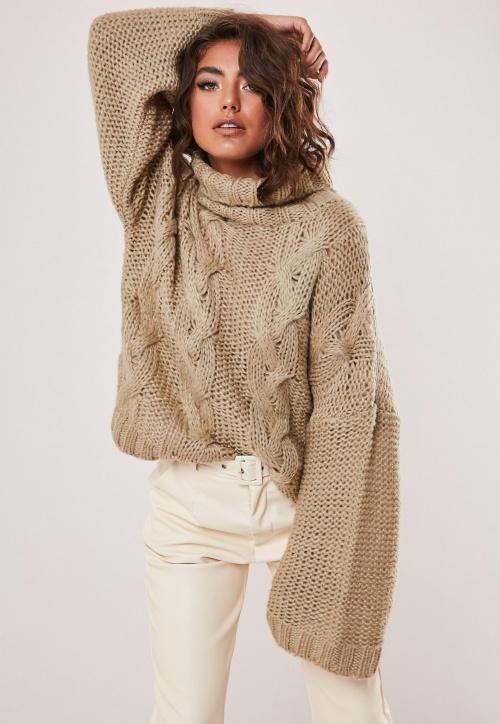 Missguided - Pull à col roulé tricoté