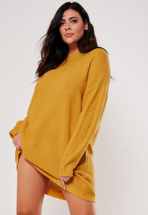 Missguided - Robe pull moutarde
