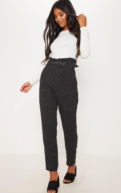 PrettyLittleThing - Pantalon en tweed