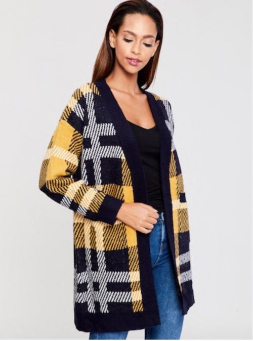 SHEIN - Cardigan à carreaux