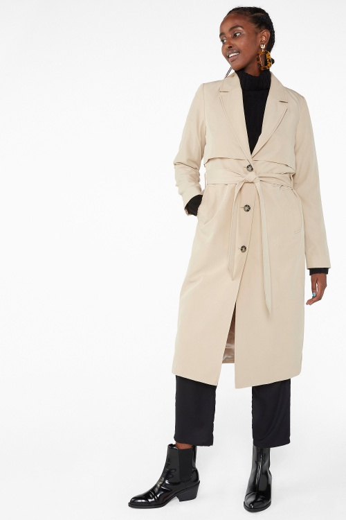 Monki - Soft trench coat
