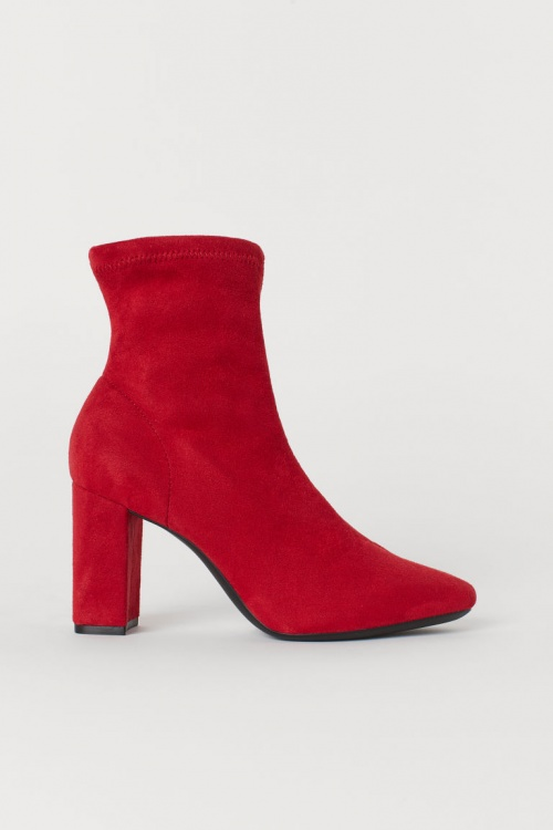H&M - Bottines rouges