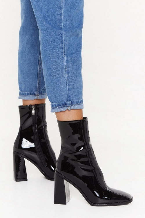 Nasty Gal - Bottines en vinyle