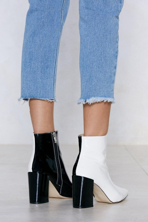 Nasty Gal - Bottines bicolores