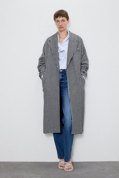 Zara - Manteau pieds de poule