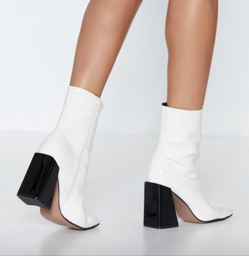 Nasty Gal - Bottines blanches