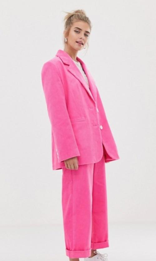 Collusion - Veste tailleur rose