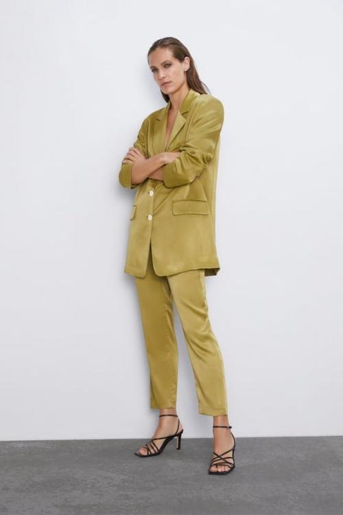 Zara - Pantalon satiné
