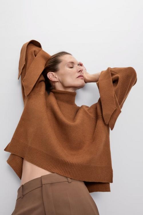 Zara - Pull en maille à noeuds