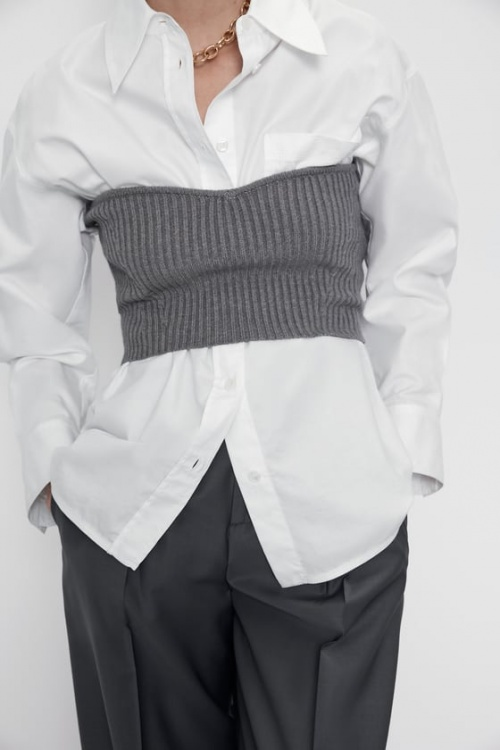 Zara - Top en maille court