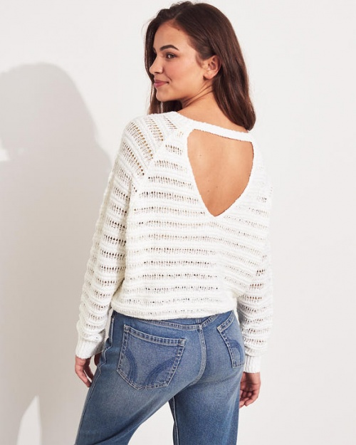 Hollister - Pull col rond dos ouvert