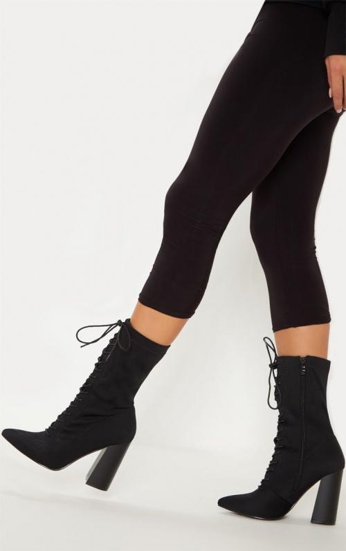 PrettyLittleThing - Bottines chaussettes à lacets