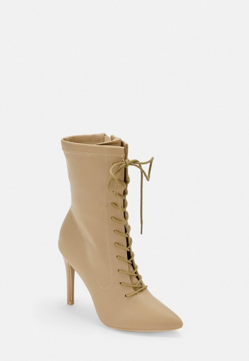 Missguided - Bottines pointues nude