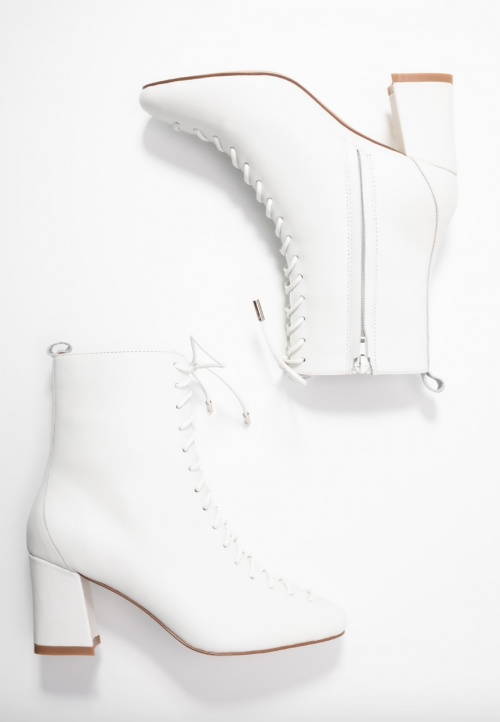 Mint&berry - Bottines blanches lacées