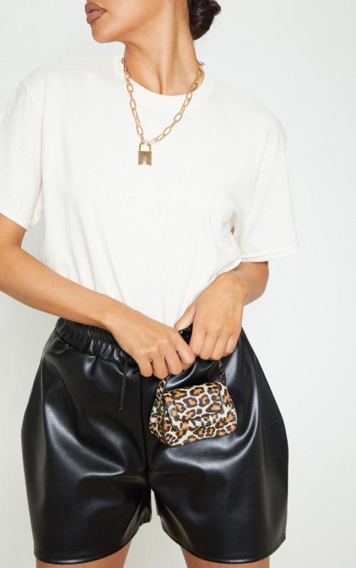 PrettyLittleThing - Micro sac léopard
