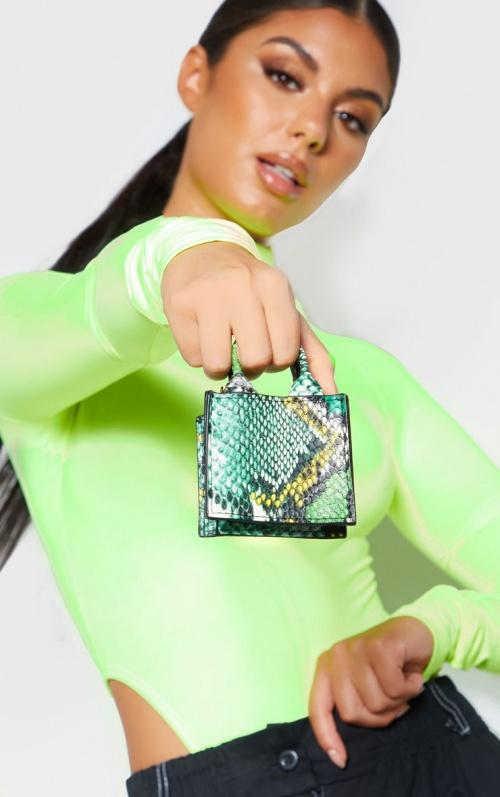 PrettyLittleThing - Micro sac serpent vert