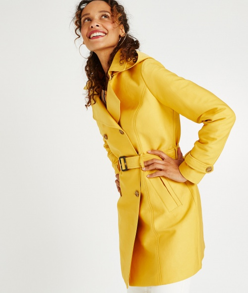 Basic - Trench jaune moutarde