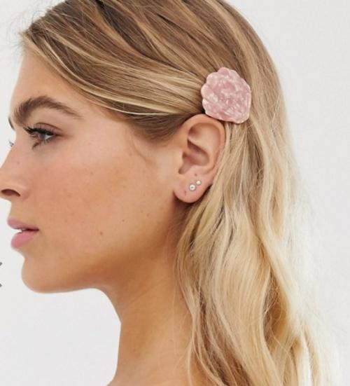 Orelia - Barrette à cheveux motif coquillage en résine