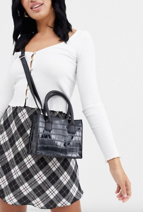 New Look - Mini tote bag croco