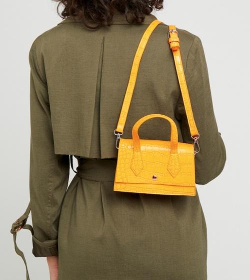 Zalando - Mini sac jaune croco