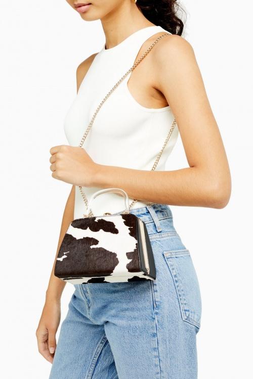 Topshop - Mini sac imprimé vache