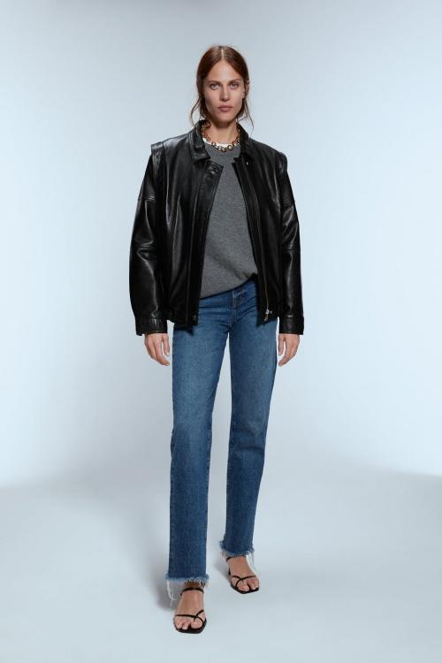 Zara - Veste en cuir